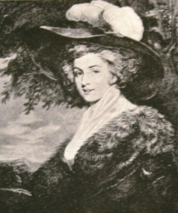 Mrs. Fox from an engraving after the portrait by Sir Joshua Reynolds