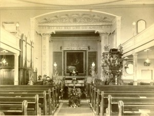 Interior of St. John's Church, 1899
